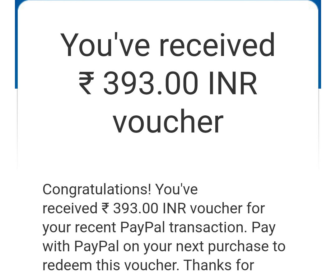 PayPal voucher bank transfer