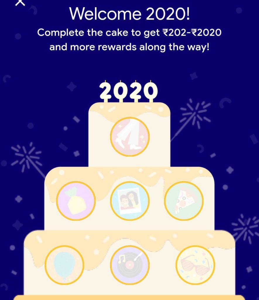 google pay cake offer 2020