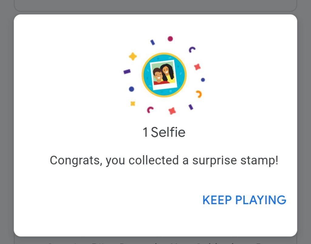 google pay selfie stamp