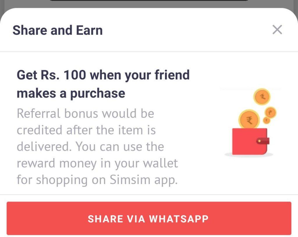 simsim app shopping offer