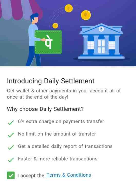 PhonePe wallet balance to bank account transfer