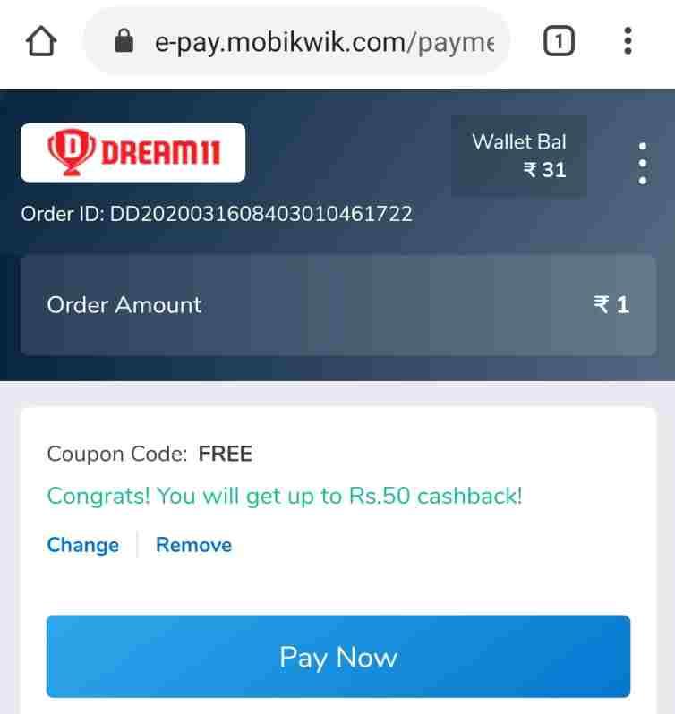 dream11-add-money-offer-today