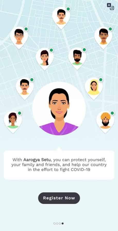 aarogya setu app register now