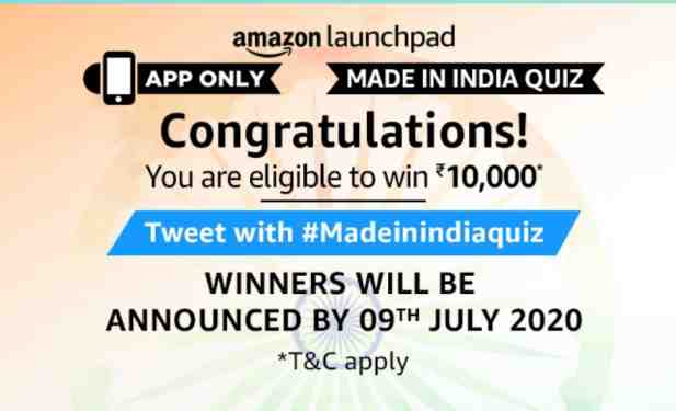 amazon quiz made in india answers today