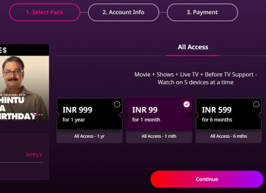 zee5-subscription-plans-india-price