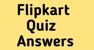 flipkart quiz answers today