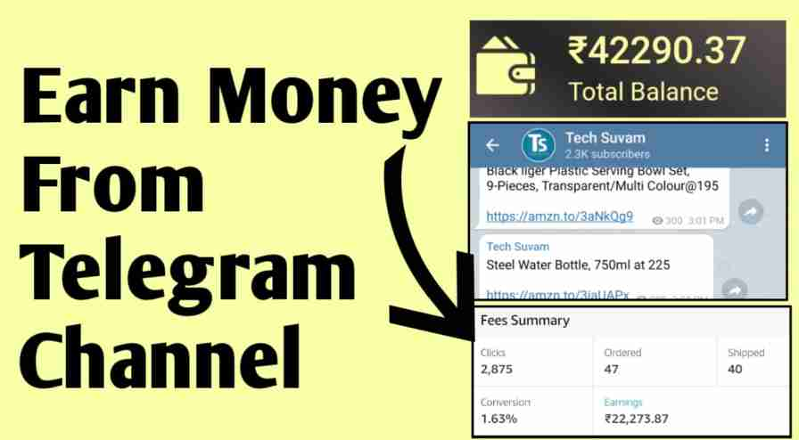 make money online on telegram channel