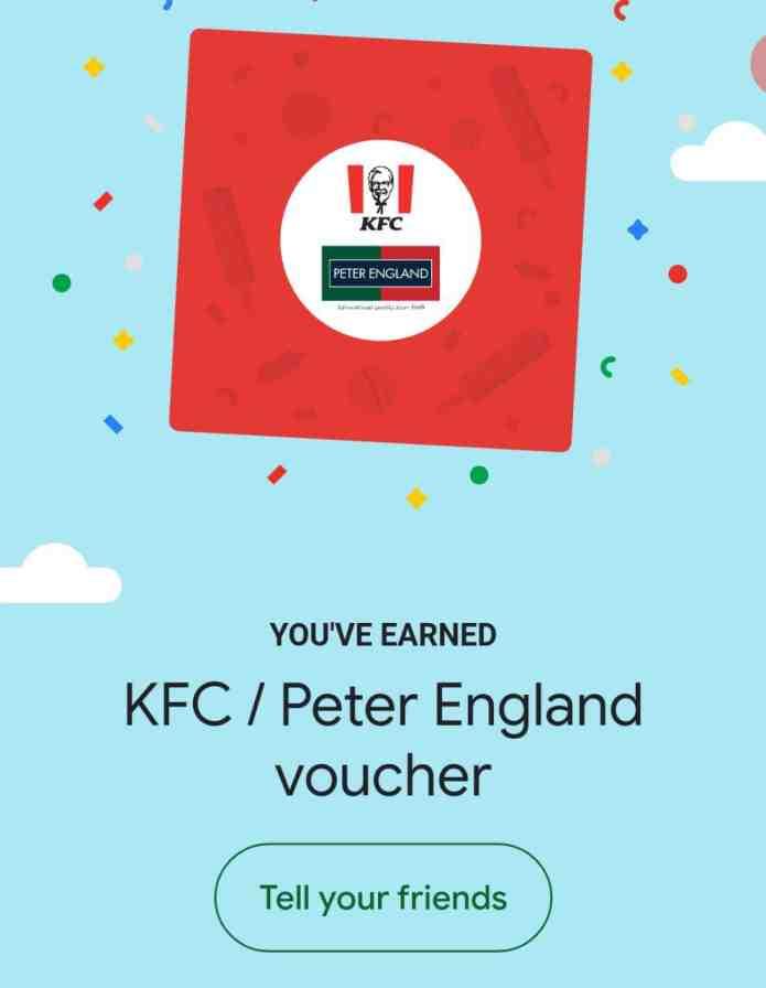 google pay peter england offer