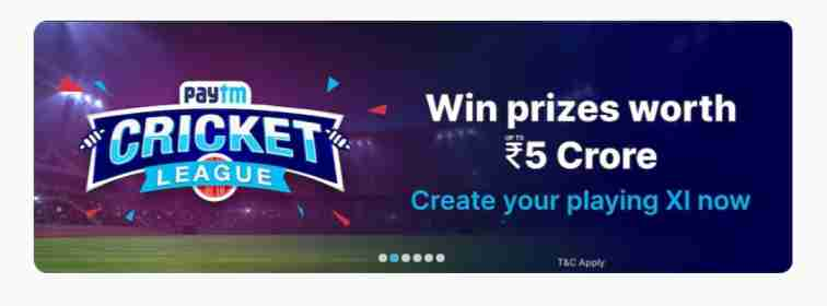 paytm cricket league offers