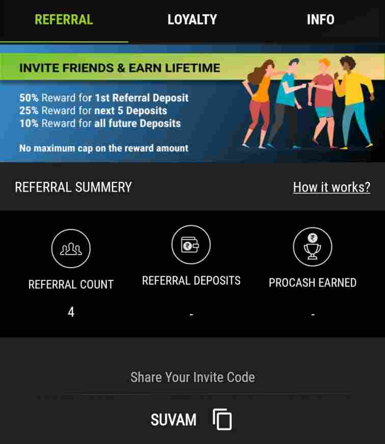 pro sports 11 referral code