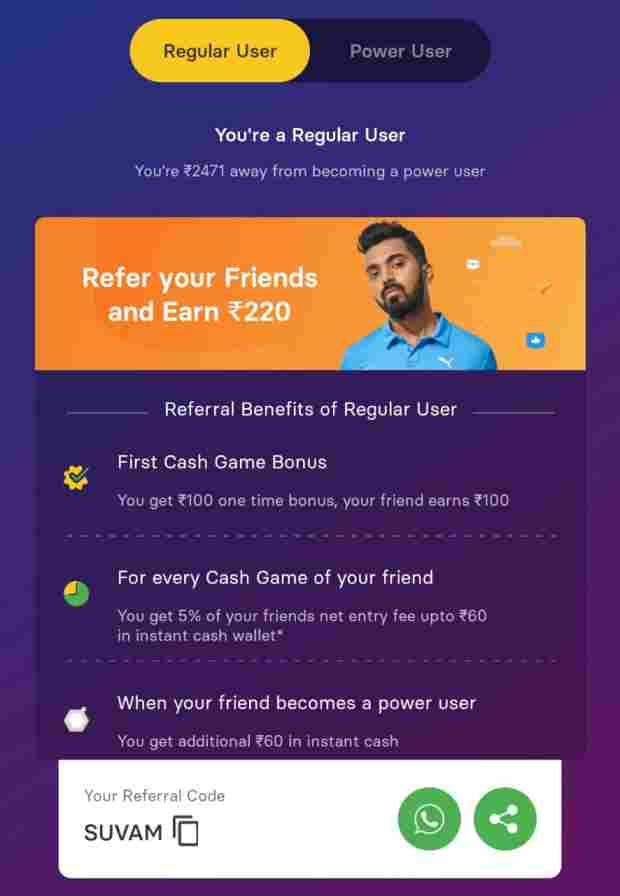 gamezy-app-refer-and-earn-offer