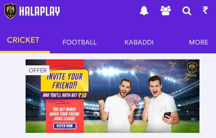 halaplay refer and earn offer