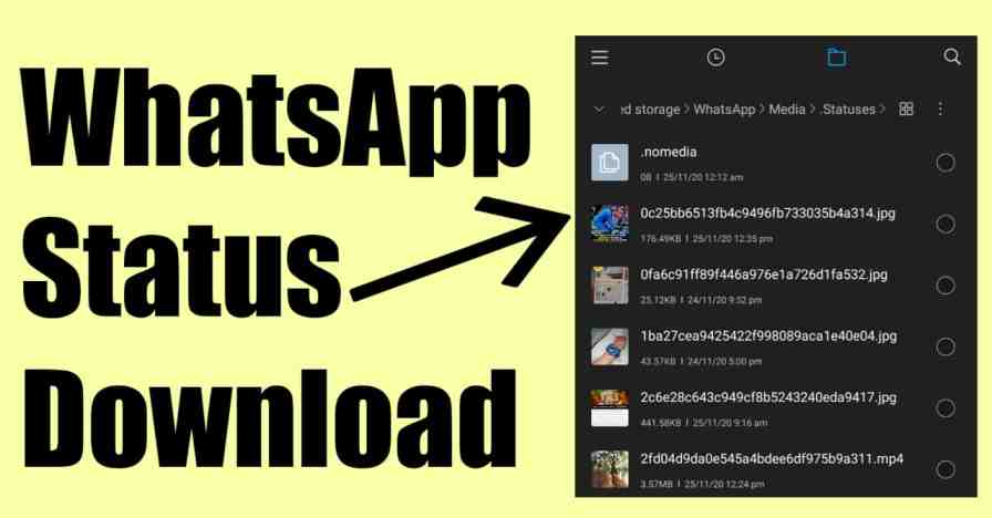 how to download whatsapp status video on android