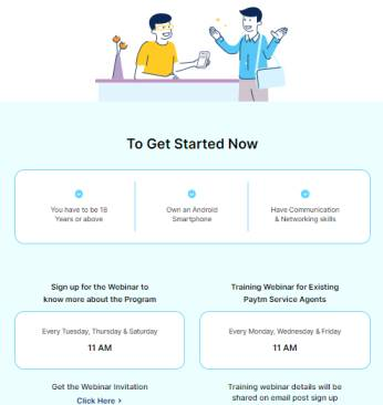 paytm service agent webinar