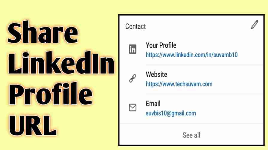 share linkedin profile url