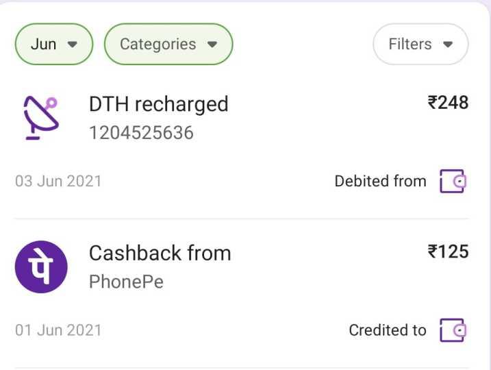 phonepe transaction history check
