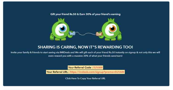 INRDeals Refer and Earn