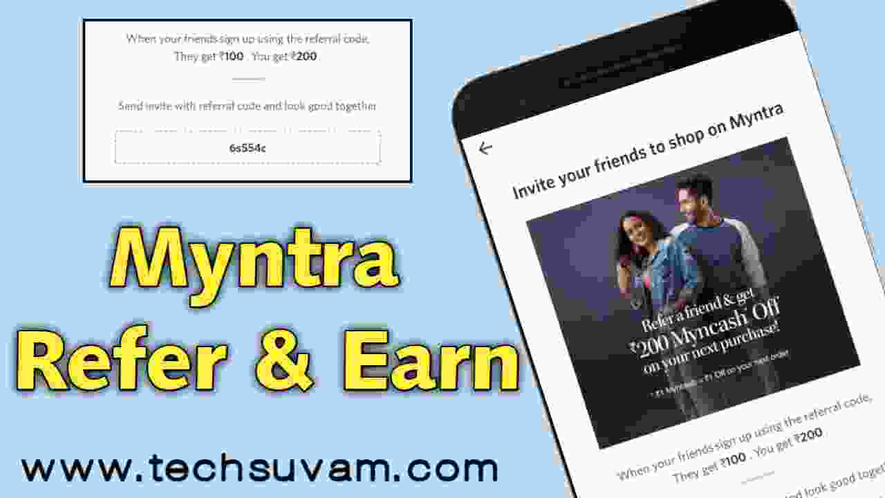 Myntra Refer and Earn Trick