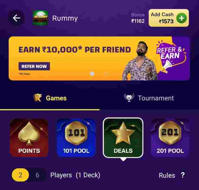gamezy rummy app