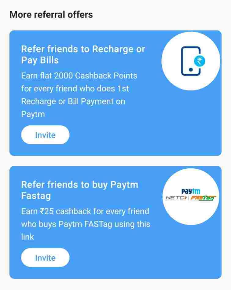paytm fastag referral offer