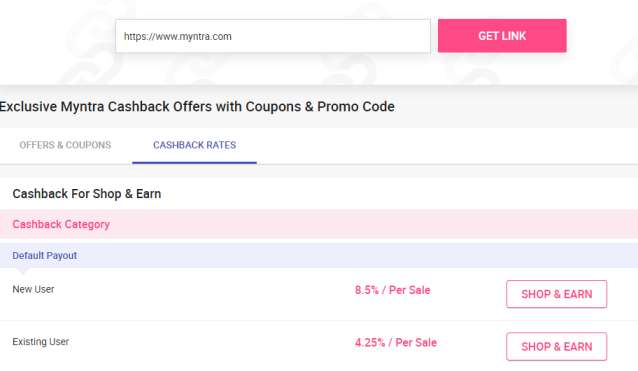 zingoy myntra affiliate commission structure