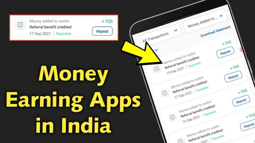 money earning apps in India 2021